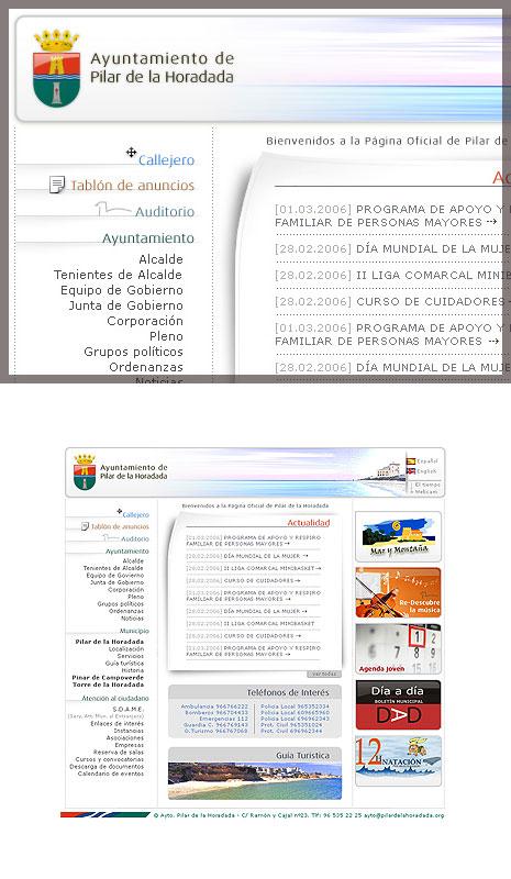 Web Ayto. Pilar de la Horadada